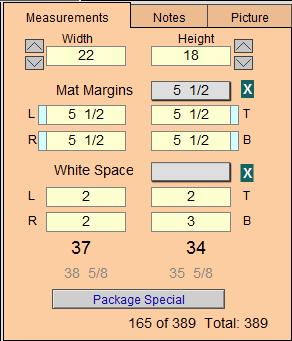 WO - Measurements Tab