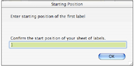Start Position of Labels