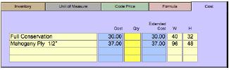 Mount Strech Mount Strech Cost tab
