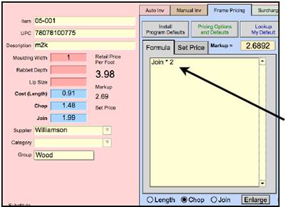Set Pricing Formula
