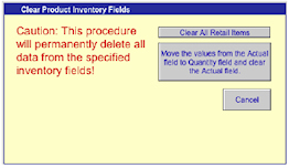 Clearing Inventory Fields