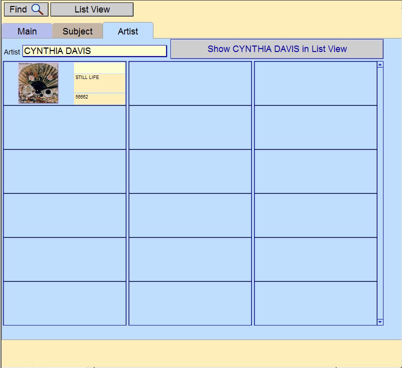 Art Resource Artist tab