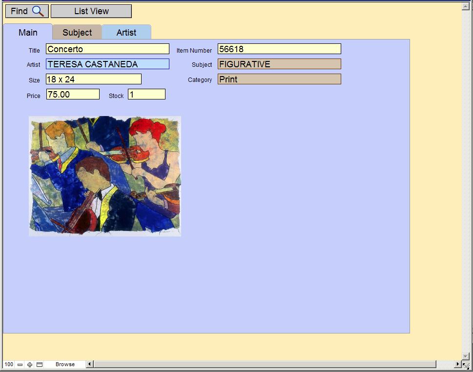 Art Resource Main tab