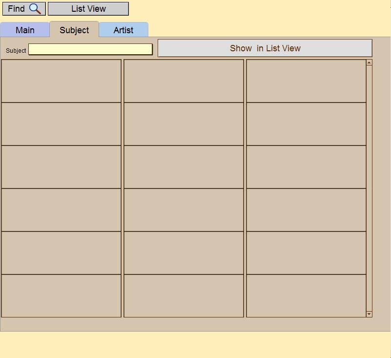 Art Resource Subject tab