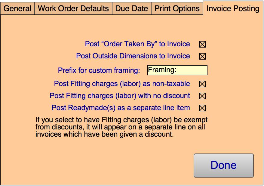 6 WO - Invoice Posting