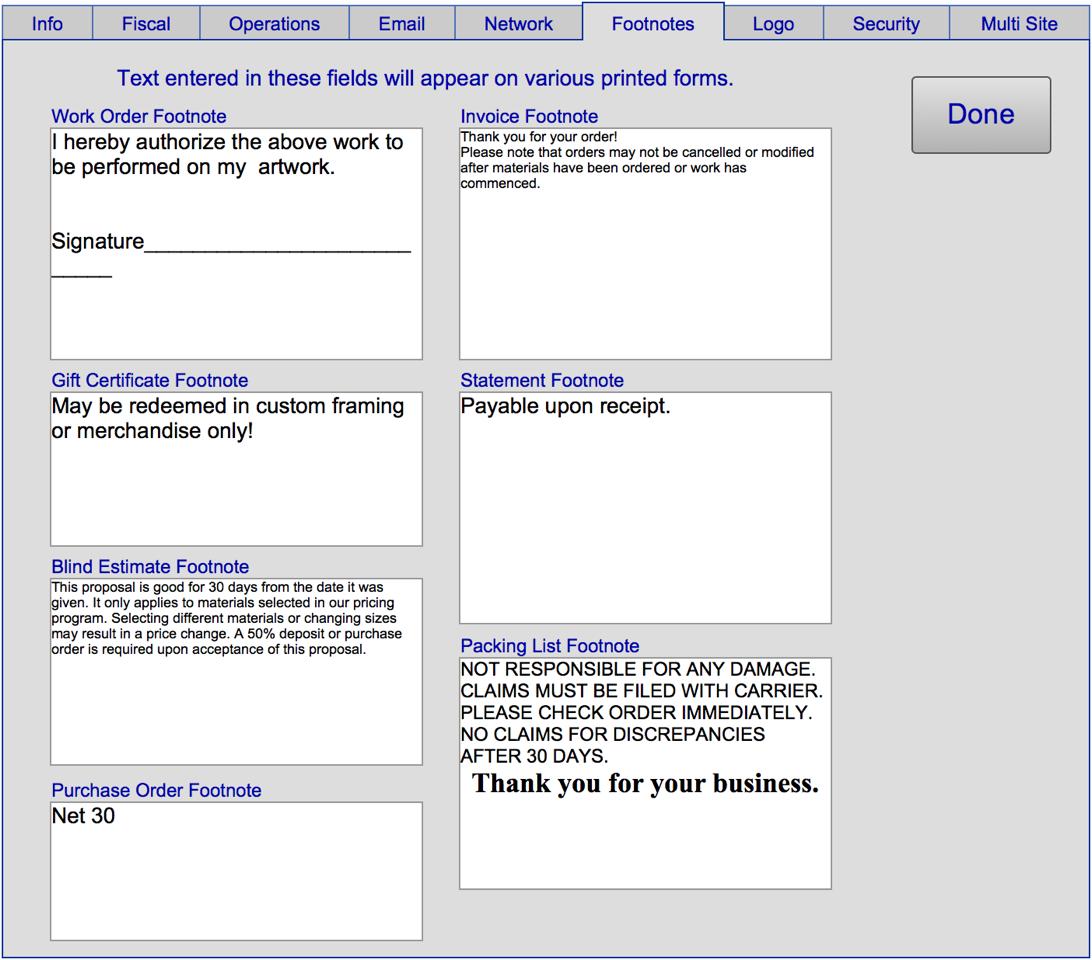 Setting Up Basic Business Data – FR10 – FrameReady Knowledgebase