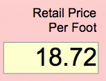 retail price per foot